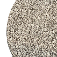 Woven round rug - beige mix (size customisable)