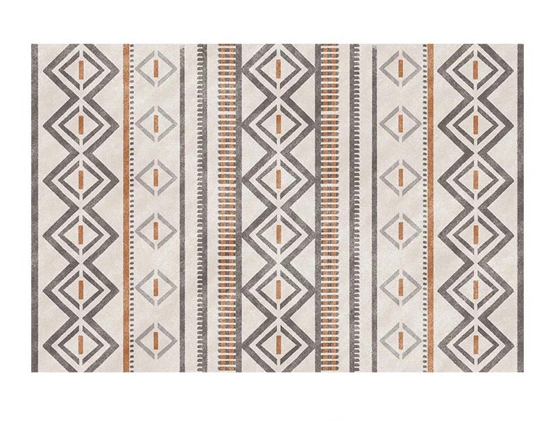 Aztec rug - neutral (size customisable)