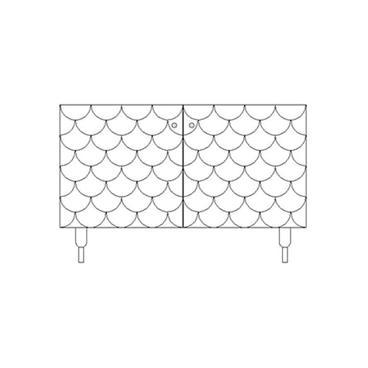 Malthe sideboard - custom colour (White or grey)