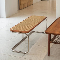 Rea rattan bench - brown
