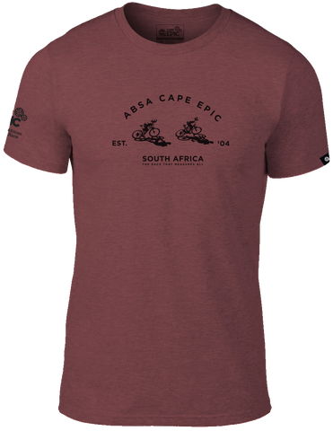 Epic Branded T-shirt Men's - Mauve Melange