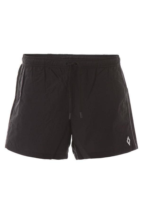 Marcelo burlon swim trunks with piping