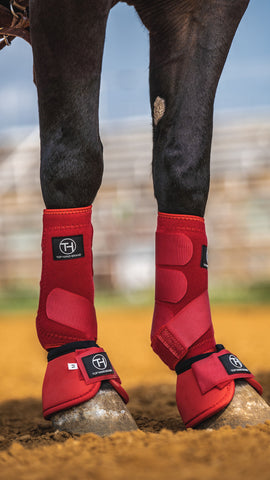 Red Sport Boots (Sold in Pairs)