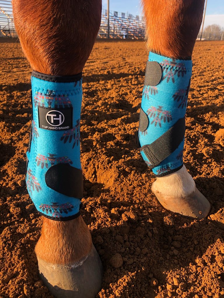 Turquoise Thunderbird Sport Boots (Sold in Pairs)