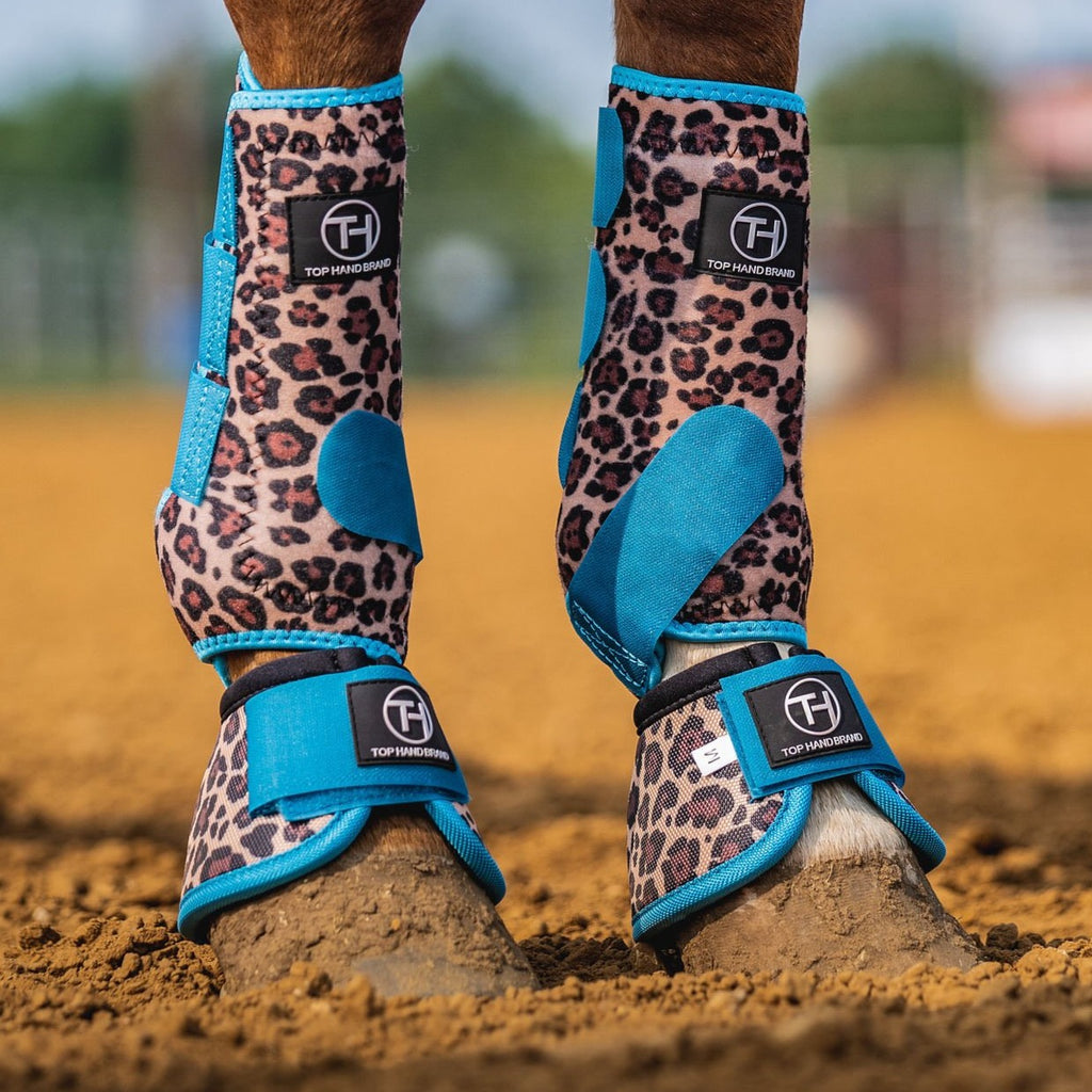 Turquoise/Cheetah Bell Boot