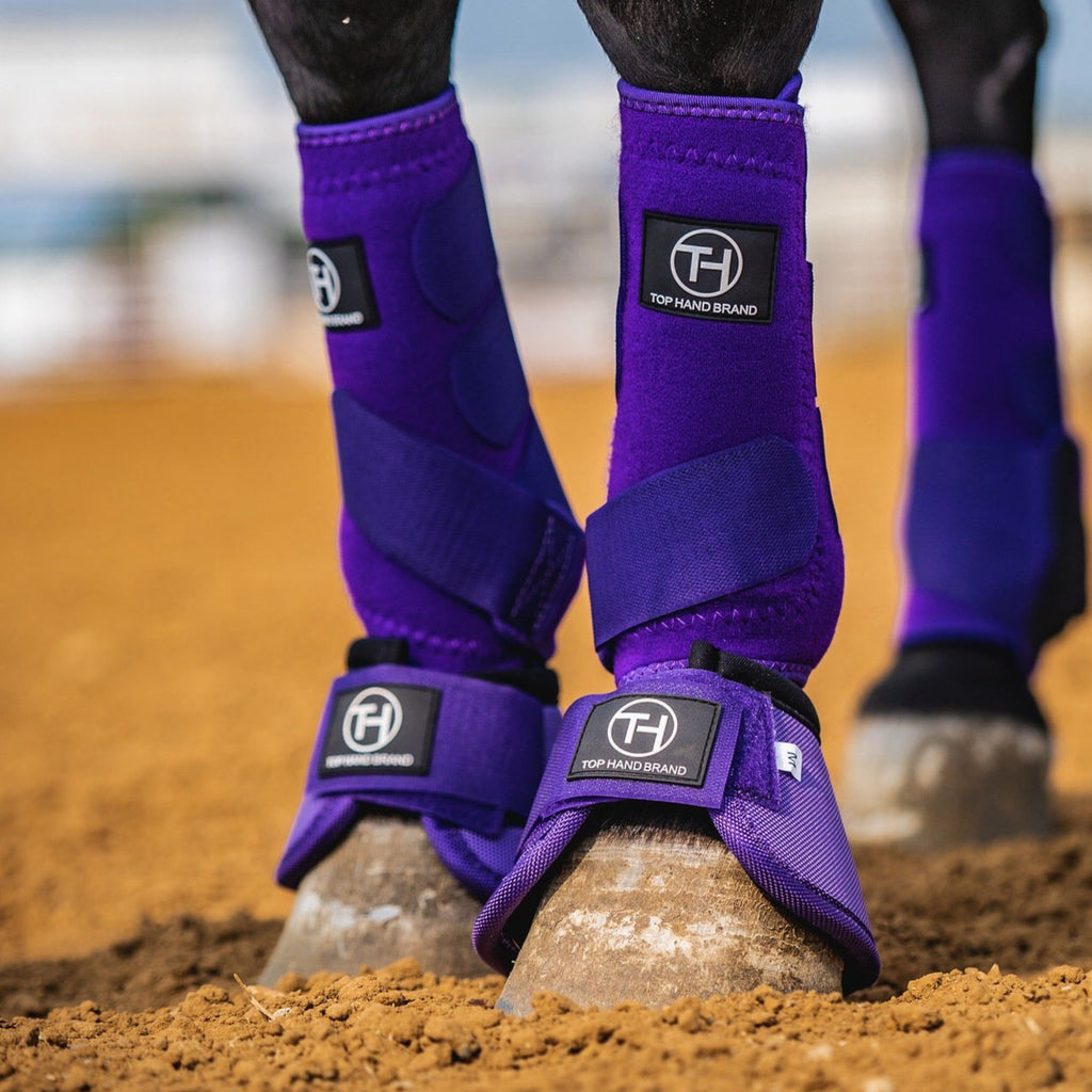 Solid Purple Bell Boots