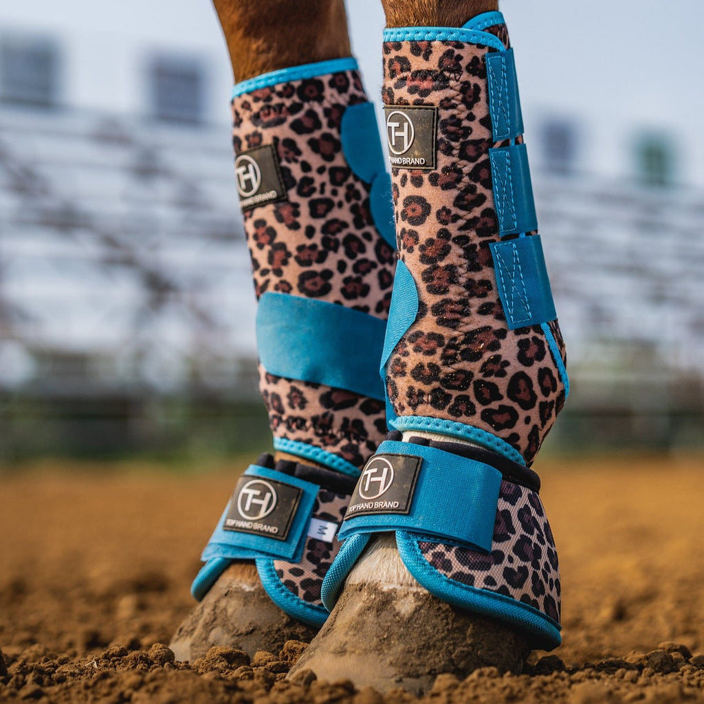 Cheetah/Turquoise boots