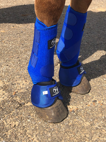 Royal Blue   Bell Boots