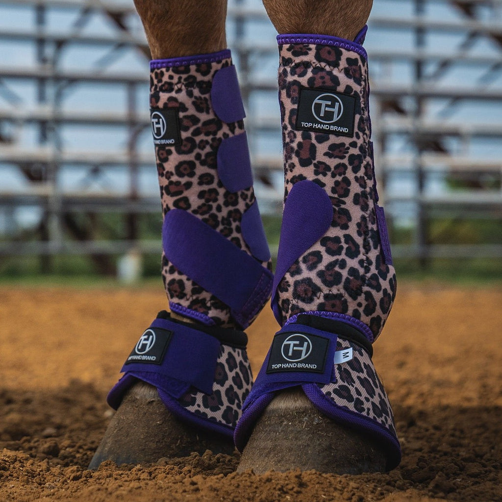 Purple/cheetah  Bell Boot