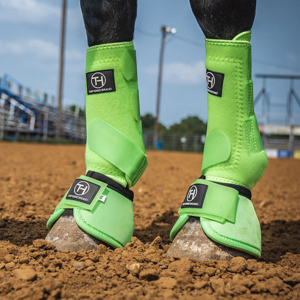 Lime Green Sport Boots (Sold in Pairs)