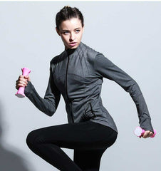 Sweatshirt / Jacket - Gymclothing.store (Sport Zipper Running Reflective Workout Jacket)
