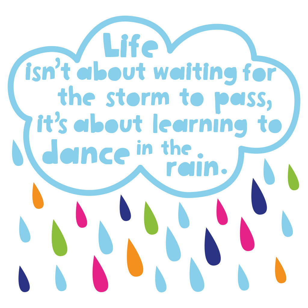 zidne naljepnice - tekstualne - affirmationwall - dance in the rain