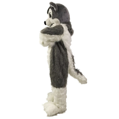 Grey Wolf / Costume Gray Fur Wolf Mascot