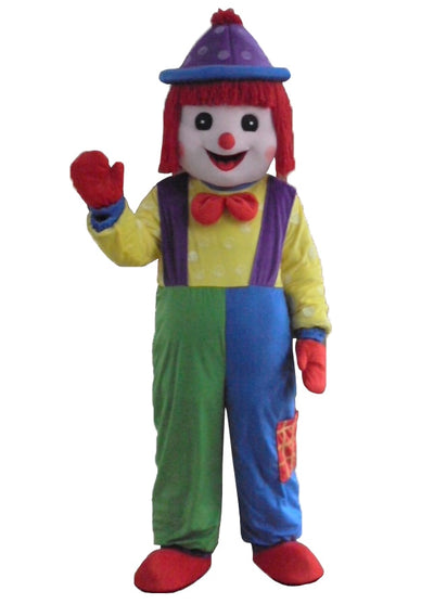 Giggles The Clown Mascot Adult Costumes Birthday Party Clown Suit - Upside Down - professional mascot costume