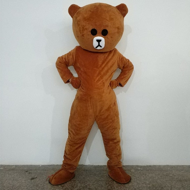 Happy Brown Bear Anime Bear Suit Costplay Cartoon Mascot Costume - Upside Down - professional mascot costume