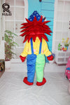 High Quality Carnival Clown Birthday Party Clown suit Mascot Costume - Upside Down - professional mascot costume