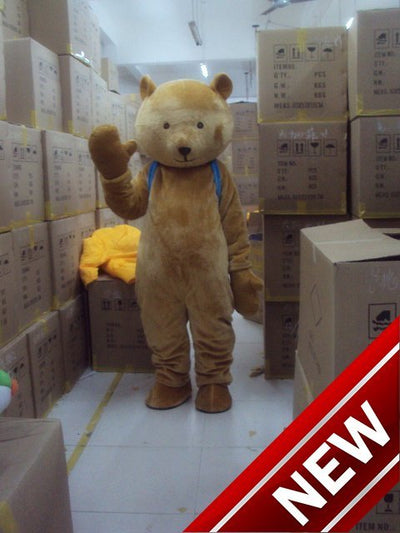 Anime Bear Cartoon Bear Adult Fuzzy Wuzzy Cosplay - Upside Down - professional mascot costume
