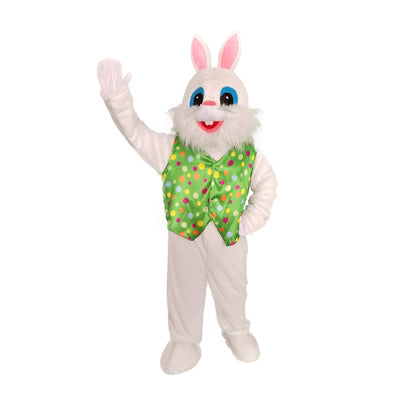Green Vest Grand Father Bearded Easter Bunny Costume