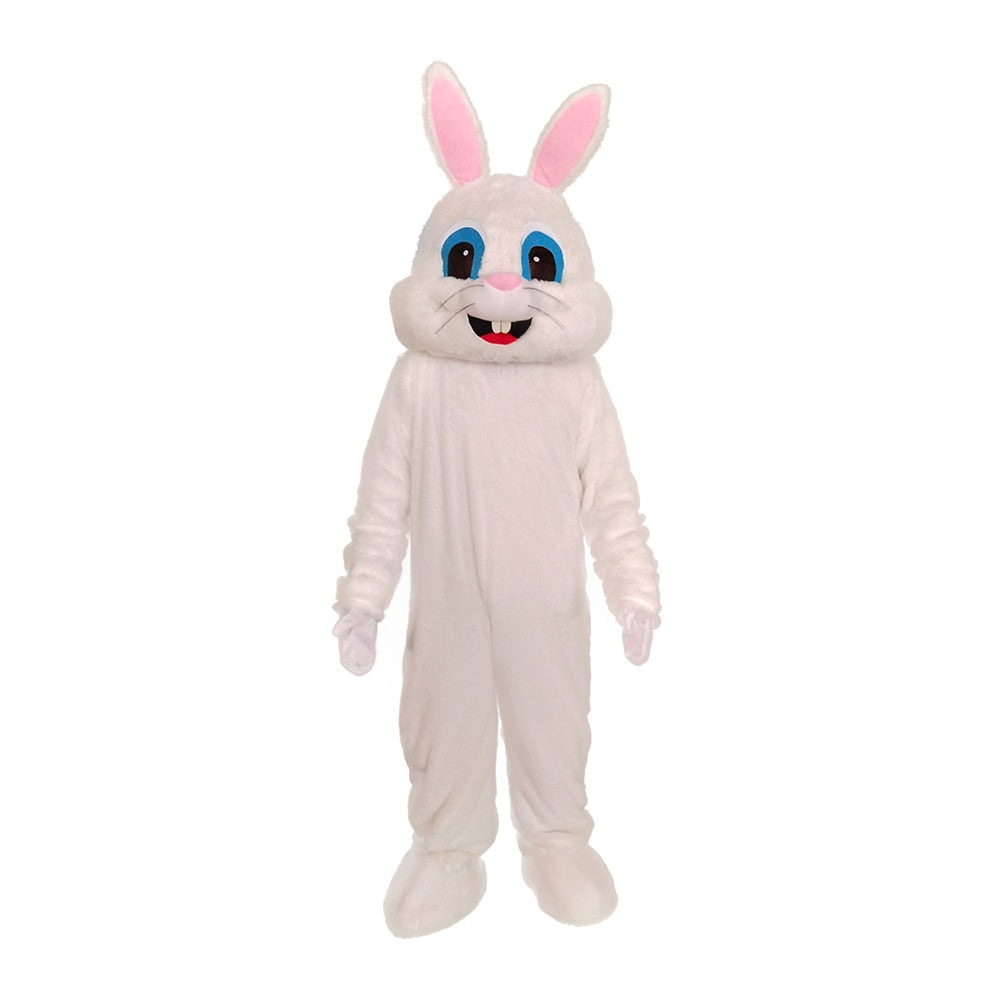 Deluxe Plush White Bunny Costume for Adults White Bunny Rabbit Mascot Suit - Upside Down - professional mascot costume