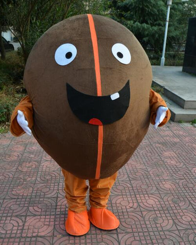 Cute Coffee Bean Costume Mascot New Coffee Bean Suit - Upside Down - professional mascot costume