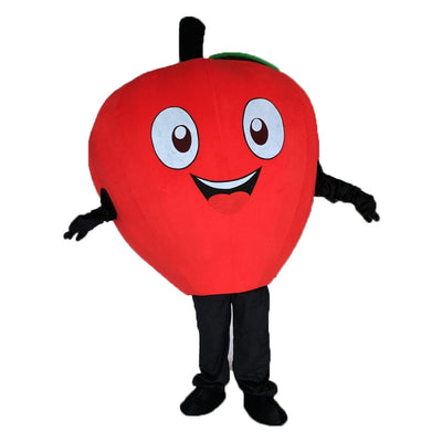 Little Read Apple mascot costume   Carnival Costume    Adult Size