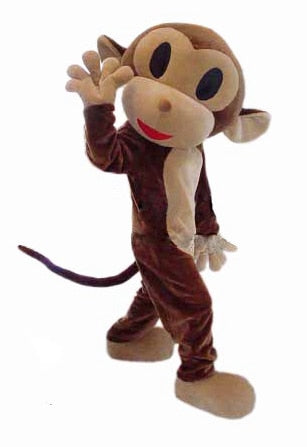 Adult Monkey Mascot Costume Brown Monkey suit