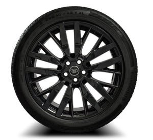 "Genuine Range Rover Sport SVR 22"" Black Alloy Wheels & Tyres Emerald Bespoke"