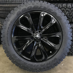 "Genuine Land Rover Discovery 5 Style 502 20"" Alloy Wheels & Good Year Wrangler Duratrac Tyres"