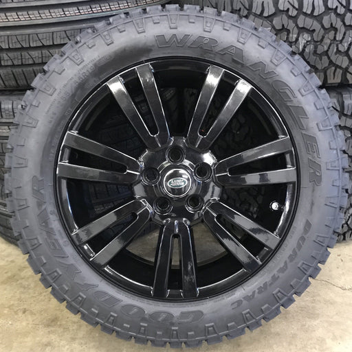 "Genuine Land Rover Discovery 4 19"" Alloy Wheels & Good Year Wrangler Duratrac Tyres"