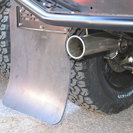 Bowler Motorsport Defender 90 Race Exhaust (including Mud Flaps)
