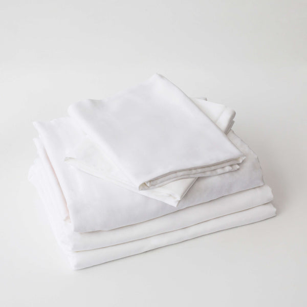 Organic Bamboo Sheet Set - White