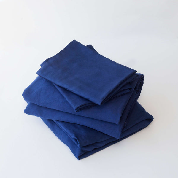 Organic Bamboo Sheet Set - Navy