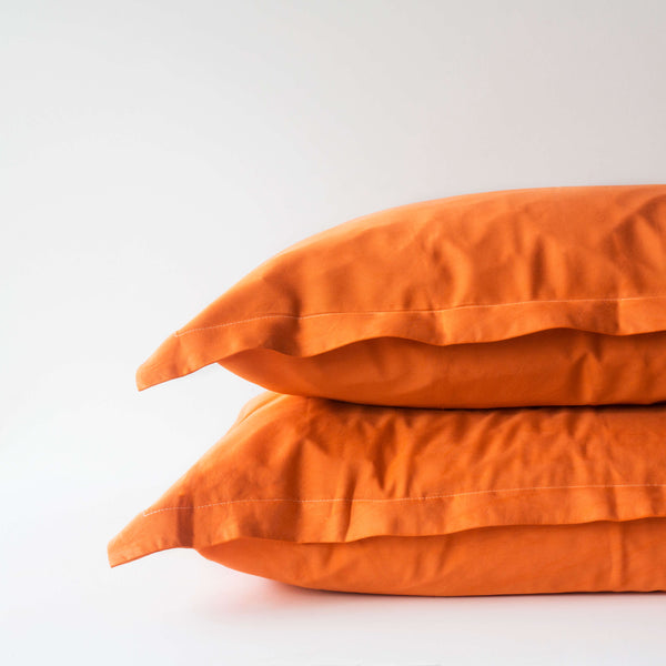 Organic Bamboo Pillowslip Set – Terracotta