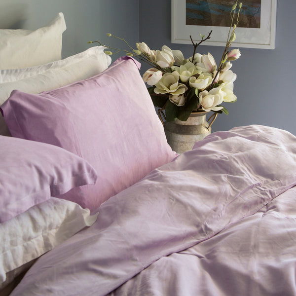 French Linen Duvet Set – Rose