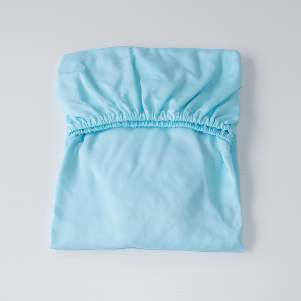 Organic Bamboo Baby Cot Sheet - Turquoise