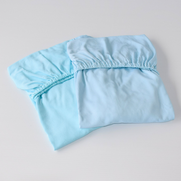 Set of 2 Organic Bamboo Baby Cot Sheets