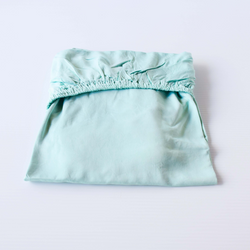Organic Bamboo Cot Sheet - Green Tea