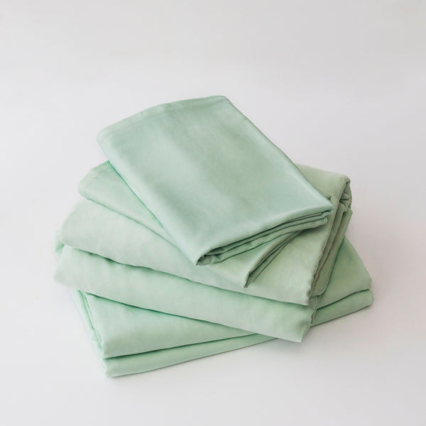 Organic Bamboo Sheet Set - Green Tea