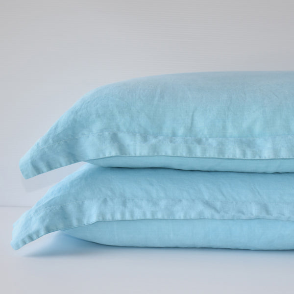 French Linen Pillowslip Set - Marine