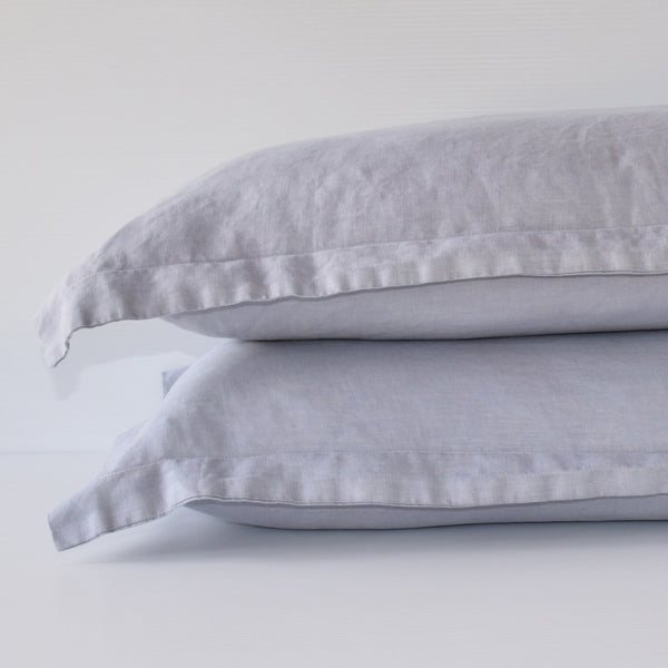 French Linen Pillowslip Set - Smoke