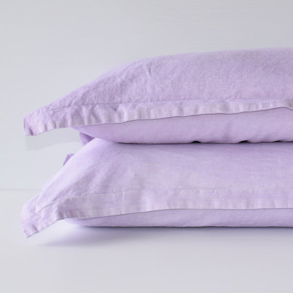 French Linen Pillowslip Set - Lavender (Limited Edition)