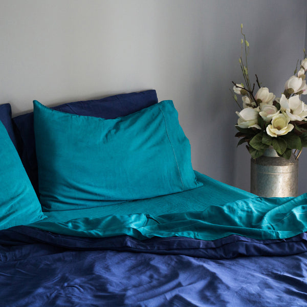 Organic Bamboo Sheet Set - Teal
