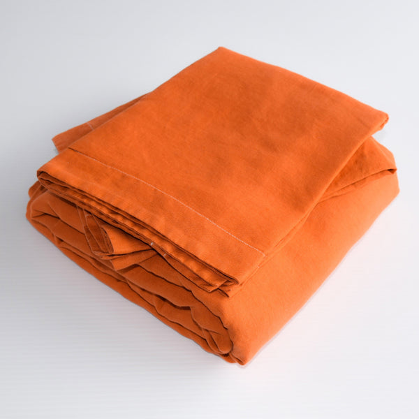 French Linen Duvet Set – Terracotta