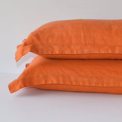 French Linen Pillowslip Set - Terracotta