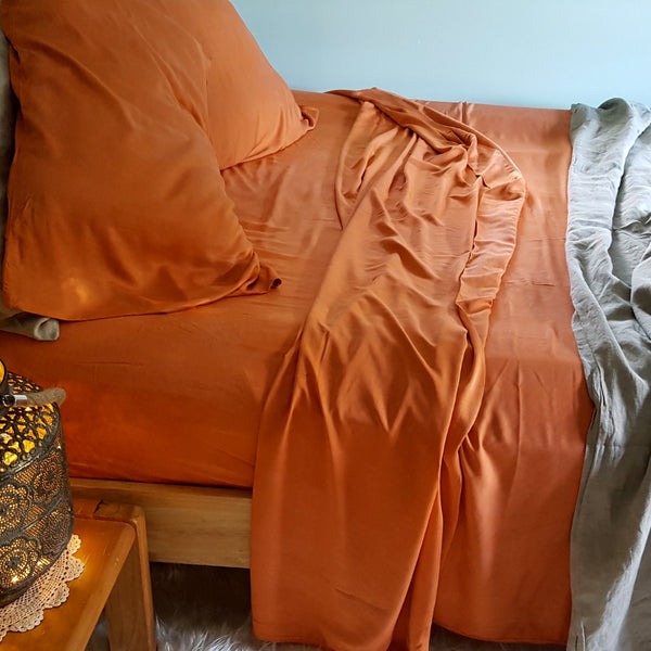 Organic Bamboo Sheet Set - Terracotta