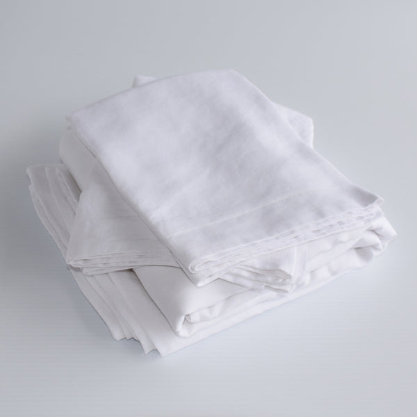 French Linen Duvet Set – White