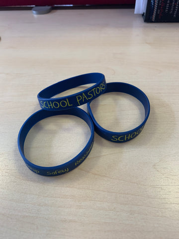 School Pastor Wrist Band - New (Pack of 2)