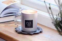 uplifting scented UK candle, natural soy wax luxury home fragrance