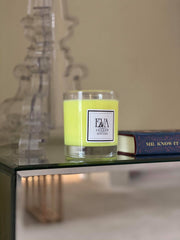 scented candle hand poured in Wimbledon, non toxic, natural soy wax, paraffin free