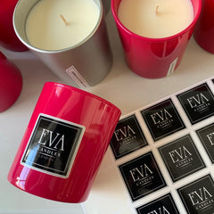labeling scented candle glass, steps to make luxury candle blog